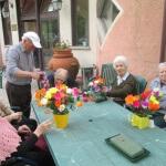 Arte ikebana alla casa per anziani Villa del Sole vicino Pistoia e Prato